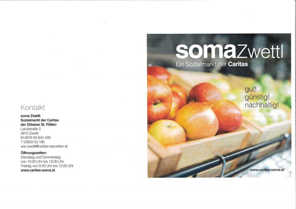 soma Zwettl – Sozialmarkt der Caritas